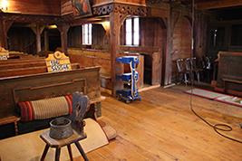 Kostel v Hronseku - likvidace dřevokazů